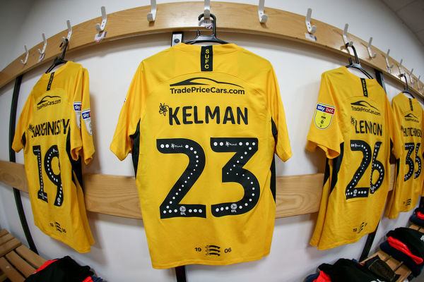 GHB_006_. Charlie Kelman, shirt in dressing room.  MK Dons v Southend United FC