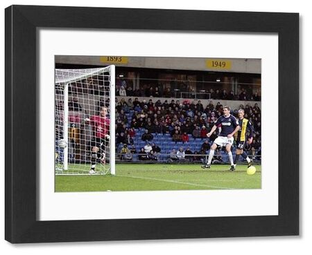 Sean Clohessy (Southend United, out of picture) deceives keeper Ryan Clarke (Oxford United) with his cross that loops in to make it 2-0 - Oxford United vs. Southend United - npower League Two at Kassam Stadium, Oxford - 01/01/11 - Mandatory Credit
