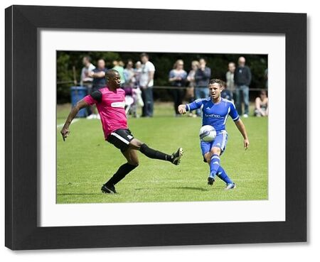 MArk Wright of Essex United avoids Leo Roget of Southend United Legends during the Legends vs. Celebrity match - Meet the Blues Day at Boots and Laces, Southend - 15/07/12 - Mandatory Credit: Pixel8 Photos/David Scriven - 0 - - NO UNPAID USE