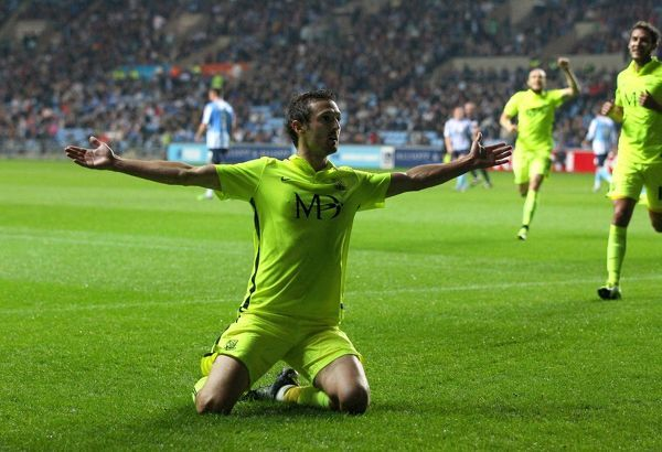 Southenda??s David Mooney celebrates scoring from the spot during the Sky Bet League 1 match between Coventry City and Southend United at the Ricoh Arena in Coventry. August 31, 2015
