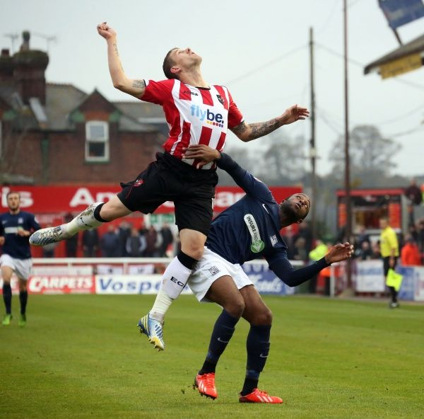 SkyBet League 2 - Exeter City v Southend United at St James' Park. Anthony Straker Mandatory Credit: Stephen Lawrence(Southern News and Pictures)/Southend United ? NO UNPAID USE