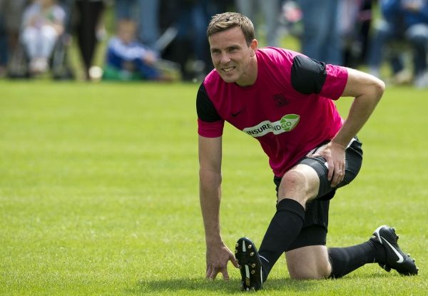 Southend United Legend Mark Bentley stretches before the Legends vs. Celebrity match - Meet the Blues Day at Boots and Laces, Southend - 15/07/12 - Mandatory Credit: Pixel8 Photos/David Scriven - 0 - - NO UNPAID USE