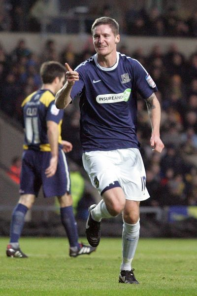 Barry Corr (Southend United) celebrates his first goal of 2011 - Oxford United vs. Southend United - npower League Two at Kassam Stadium, Oxford - 01/01/11 - Mandatory Credit: Pixel8 Photos/David Scriven - 0 - - NO UNPAID USE
