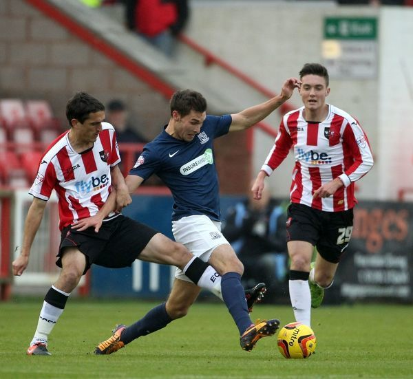 SkyBet League 2 - Exeter City v Southend United at St James' Park. Will Atkinson Mandatory Credit: Stephen Lawrence(Southern News and Pictures)/Southend United ? NO UNPAID USE