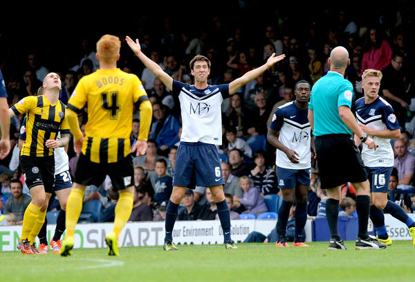Skybet League 2: Southend v Shrewsbury  Credit: Southern News and Pictures)/Southend United ? NO UNPAID USE, Luke Prosser appeals