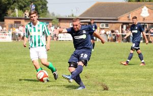 Freddy Eastwood goes for goal against Great Wakering Rovers