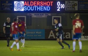 npower league aldershot town vs southend united